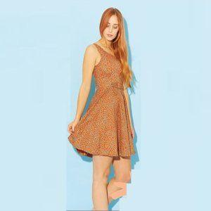 PRINCESS HIGHWAY Floral Orange Skater Mini Dress